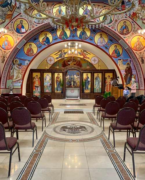 The nave or sanctuary